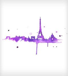 A Purple Paris Watercolor Print by Jessica Durrant on Scoutmob Shoppe