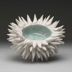 Large Urchin Bowl Icy Blue
