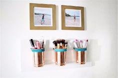 Copper Cups | Cool Makeup Organizers To Give Your Makeup A Proper Home