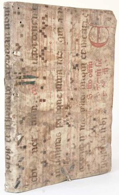 a lovely example of recycling from an earlier manuscript choirbook