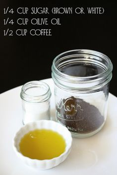 Homemade cellulite scrub (Feathers & Freckles)