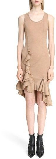 Givenchy Women's Ruffled Wool Jersey Dress