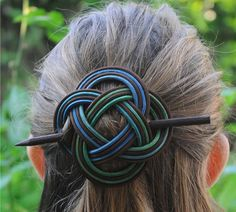 unifiction of mind   barrette Hair clip Celtic by WeavingArt, $20.00  [Maybe as a shawl pin?]