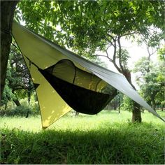 Portable-C&ing-Hanging-Hammock-Tree-House-Tent-Outdoor- & Tentsile Stingray 3 Person Four Season Camping Suspended Tree Tent ...
