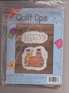 Candamar Designs Dogs Don't Purr Quilt Ups NIP Sealed Counted Cross Stitch Kit #CandamarDesigns #Sampler