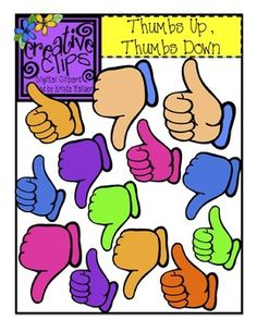 Freebie Clipart!! 15 images of thumbs up and down hand signals for personal or commercial use :)