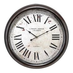 Kennedy Round Oversized Wall Clock