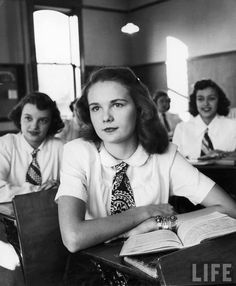High School Classroom, Iowa c. 1948 (via LIFE)