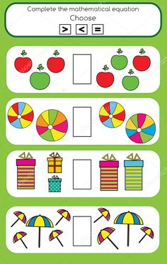 Algebra Activities, Maths Algebra, Preschool Worksheets, Preschool Activities, Educational Games For Kids, Kids Learning, Free Math, Math For Kids, Kindergarten Math