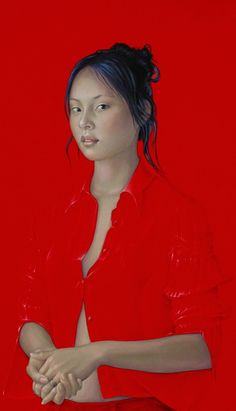 By Salustiano García Cruz- Contemporary Artist - Spain - Portrait - Red 2 Portraits Pastel, Graffiti Kunst, Pop Art, Art Moderne, Cool Paintings, Portrait Paintings, Art Graphique, Art For Art Sake, Contemporary Paintings