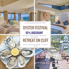 Come have some Oysters in Knysna, while staying on Cliff Oyster Festival, Golf Estate, Famous Gardens, Knysna, Luxury Loft, Holiday Destinations, Luxury Living, Cliff, Oysters