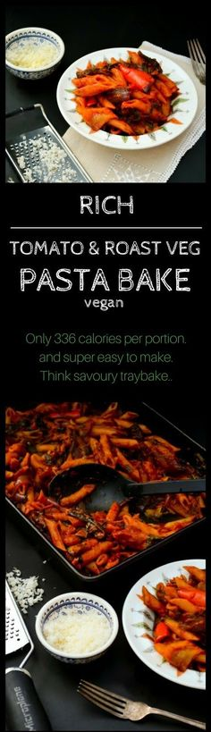 A rich pasta bake that is so easy to make. The whole dish is made in a roasting pan.Only 336 calories per portion for the most delicious pasta bake that everyone will love. Suitable for vegans and great for the 5:2 diet.