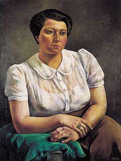 Retrato, 1939, óleo s/tela, 119 x 88 cm. Museo Rosa Galisteo de Rodríguez. Santa Fe