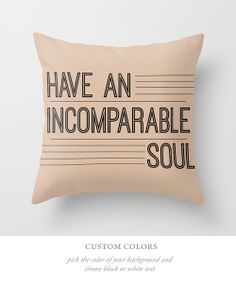 Custom Choose Your Color Home Decor Typography Throw Pillow Cover Decorative Throw Pillow Cover Inspirational Quote, Minimalist Decor on Etsy, $38.00
