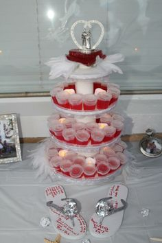 wedding cake vodka jello shots jello cake stand wish we would had this at our 26779