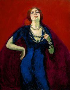 Kees Van Dongen (Dutch, 1877-1968),De blauwe japon[The blue dress], 1911. Oil on canvas, 146 × 114 cm.Van Gogh Museum, Amsterdam.