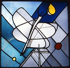 Georg Meistermann (1961)  Krefeld-Uerdingen, Evang. Gemeindehaus Stained Glass Designs, Stained Glass Art, Cathedrals, Bunt, Tiffany, Projects To Try, Spaces, Painting, Inspiration