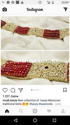 d5c92fb2d6a7 Broderie Marocaine, Ceintures, Broderie À La Main, Robe De Soirée, Perles,