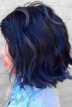 Black Blue Curls