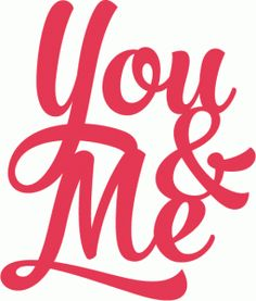 Silhouette Design Store ID 64106: you and me brush script title