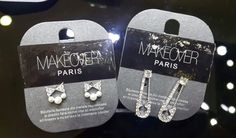 Short bow earrings and and safety pin earrings. Bow Earrings, Dog Tag Necklace, Safety, Gems, Display, Paris, Jewels, Stylish, Accessories