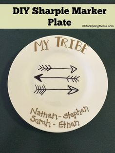 DIY Sharpie Marker Plate is a great idea for a gift!