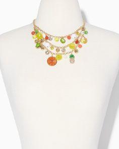 Splashy Citrus Charm Necklace | Fashion Jewelry – Citrus Splash | charming charlie