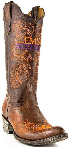 Womens Gameday Boots Clemson Tigers - perfect for fall tailgating!::: I LOVE THESE!!!