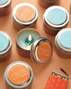 Scented candle favors