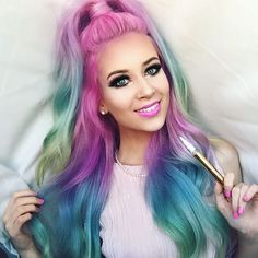 Mermaid hair Tag & Tell a friend Tag your favorite & SHOP… Ariana Grande, Frankie Grande, Justin Bieber, Hair Plugs, Beautiful Hair Color, Instagram Photo Video, Mermaid Hair, Hair Inspo, Dyed Hair