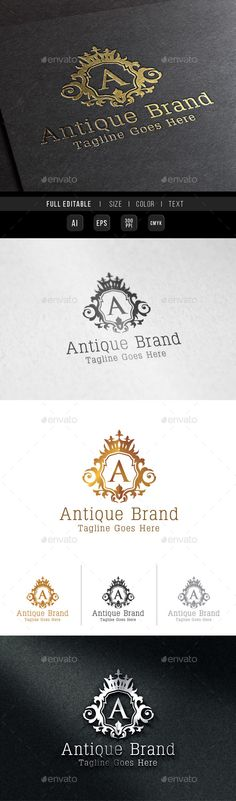 Antique Brand Logo - Crests Logo Templates
