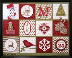 Stampin' Up Products Used: Stamp Sets: Warmth & Wonder, Tiny Tags (r), Happy Hour, Christmas Collectibles, Joyous Celebrations (r), Pennant ...