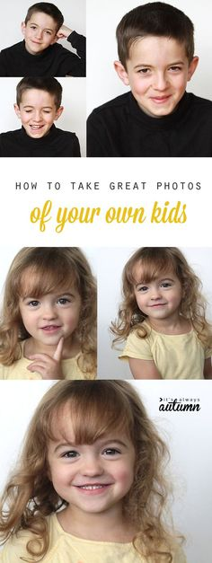 don't waste money on so-so school portraits when you can learn to take better photos of your own kids in your own home! easy photography tips