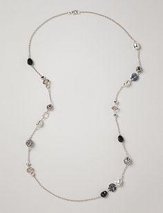 Zebra Print Beaded Necklace | Dressbarn