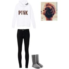 Winter outfit by omgemmieb on Polyvore featuring polyvore, interior, interiors, interior design, home, home decor, interior decorating, Victoria's Secret PINK, Ström and UGG Australia