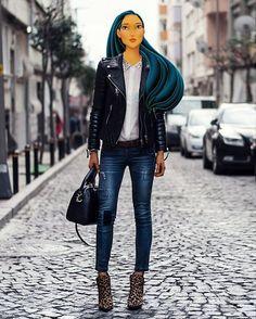 @greg_gr on Instagram - 'Pocahontas wears her own @BodaSkins leather jacket.  #AnimationInReality #BodaSkins'