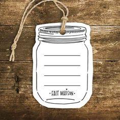 Étiquette - Pot mason - Le Bar à Idées