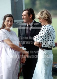 HRH Diana, Princess of Wales photographed by award winning photographer Glenn Harvey. Prints and more for sale from our extensive Royal and celebrity photo library. LtoR Rose Vestey, Mark Vestey and HRH Princess Diana at Cirencester polo club, England June 1984