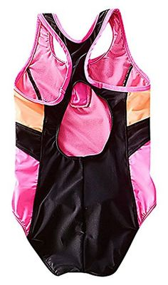Sweety Girls 1 Piece Tricolor Cut Out Back Sports Monokini Separate Swim Skirt Pic 16T ** Visit the image link more details.