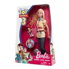 Aulbrey would love this! Barbie Disney Pixar Toy Story 3 Barbie Loves Jessie Fashion Barbie Doll