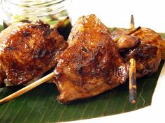 SKIP TO MALOU: Chicken Inasal (Grilled Chicken): the next Filpino food truck phenomenon? Barbecue Recipes, Grilling Recipes, Wine Recipes, Cooking Recipes, Chicken Menu, Grilled Chicken, Chicken Recipes, Filipino Recipes, Asian Recipes