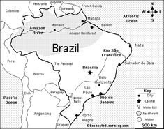 brazil map color page - - Yahoo Image Search Results Brazil Amazon Rainforest, Map Quiz, Enchanted Learning, Literacy Rate, South America Map, Brazil Flag, Flag Coloring Pages, Maputo, Manaus