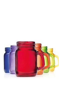 Color Handled 5 oz. Shooters - Set of 6