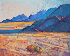Desert Blues - Modern Impressionism | Contemporary Landscape Oil Paintings for Sale by Erin Hanson