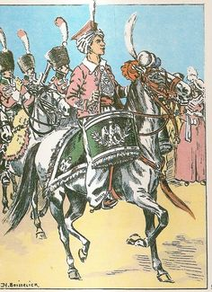 Chasseurs a Cheval, Kettle Drummer, French Army, Napoleonic Wars, Military Art, African, History, Drums, Warriors, Weapons, Instruments