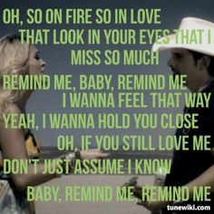 Remind Me ~ Brad Paisley feat. Carrie Underwood
