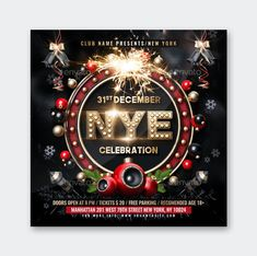 New Years Eve Flyer Template PSD