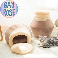 Does your cat enjoy hiding and exploring new and tight places in your home? then why don't you treat them to one of your soft plush honey pot cat houses! with its soft suede material and its pot shape it will be comfortable and a new enjoyable place for your cat to explore. #catbed #cats #kittens #cute #pet #petbed #honey #pot #animals # pets Cat Lover Gifts, Pet Gifts, Cat Lovers, Cat Perch, Cat Cave, Pet Mat, Little Pets, Dog Bed, Pet Beds