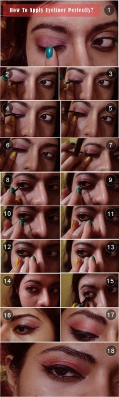 DIY: How To Apply Eyeliner Perfectly? If you are over 45, do not use liner under your eye, you will make yourself look older instead of youthful. And please ladies, don't over do the make up after 40... you look too over done