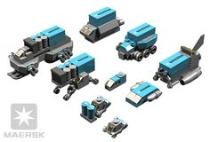 BRIX Micro Space MAERSK Support Ships V1.0 | A random collec… | Flickr